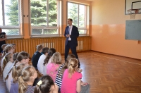 Spotkanie z panem S. Kwiatkowskim - absolwentem naszej szkoly